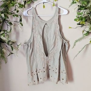 🦋2 for $25 Free People Open Back Lace Top